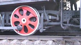 Retro Trein van de Stoommotor stock footage