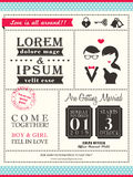 Retro Trendy wedding invitation card template Royalty Free Stock Photography