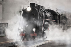 retro treno del vapore Fotografia Stock