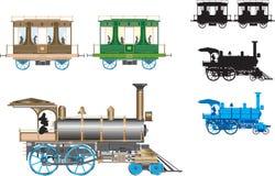 Retro treno di vettore Fotografia Stock