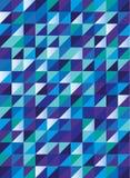 Retro triangelmodell i blå gräsplan och lilor, sömlös vektor Royaltyfria Foton
