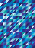 Retro triangle pattern in blue green and purple, seamless vector Royalty Free Stock Photos