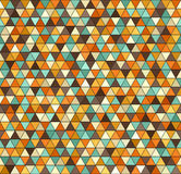 Retro triangle pattern. Seamless vector vintage background Stock Image
