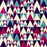 Retro triangle seamless pattern Stock Images