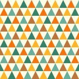 Retro triangle seamless pattern stock illustration