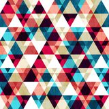 Retro triangle seamless texture with wood effect Royalty Free Stock Image