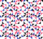 Retro Triangles Background. Inspired by fifties golden age of graphics Royalty Free Stock Photos