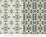 Retro triangolo senza cuciture Diamond Geometry di colore Set_061 del modello 2 illustrazione vettoriale