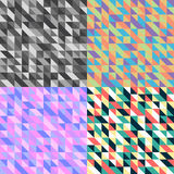 Retro Triangular Pattern Stock Photo