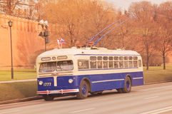 Retro trolleybus. Royalty Free Stock Photo