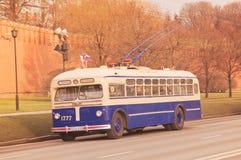 Retro trolleybus. Royalty Free Stock Photo
