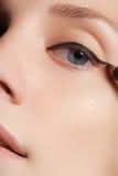 Retro trucco di stile Dettaglio quotidiano di trucco eyeliner Bei occhi fotografia stock
