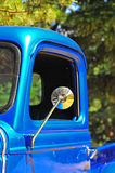 Retro truck drivers side mirror Royalty Free Stock Images