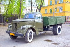 Military retro truck produced in the Soviet Union. Year of production 1960 stock photography