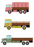Retro truck set. Royalty Free Stock Photography