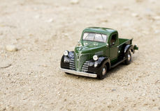 Retro truck toy car Royalty Free Stock Image