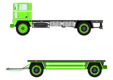 Retro truck and trailer Royalty Free Stock Images
