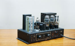 Retro tube amplifier 1920 year Stock Image