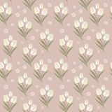 Retro tulips seamless pattern background Royalty Free Stock Images