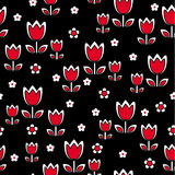 Retro- Tulpe mit Blumen Lizenzfreie Stockfotos