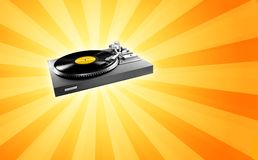 Retro turntable Royalty Free Stock Images