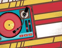 Retro Turntable Club Flyer. Stock Photography