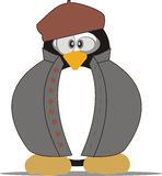 Retro Tux. Coming to us.Good for Linux fans Royalty Free Stock Image
