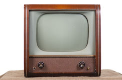 Retro TV. 1960's television on a white background Stock Photography