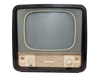 Retro TV. On a white background Royalty Free Stock Photo