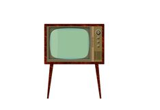 Retro TV 2 Royalty Free Stock Photography
