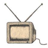 Retro TV. Hand drawn retro TV, detailed vector illustration