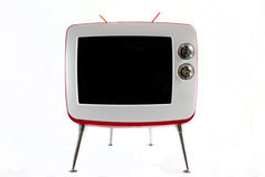 Retro TV. Over white background Stock Photography
