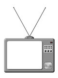 Retro TV. Is a illustration of grey TV set isolated vector illustration