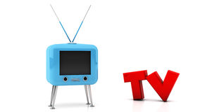 Retro Tv in 3d Royalty Free Stock Photo