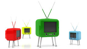 Retro Tv in 3d Stock Photo