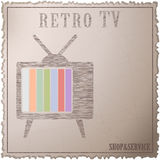 retro tv Royaltyfria Foton