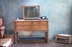 Retro TV fotografia stock