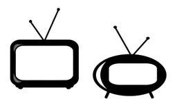 Retro TV Stock Afbeelding