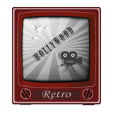 Retro TV Immagine Stock
