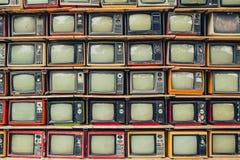 retro tv royaltyfri fotografi