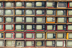 retro tv Arkivfoto