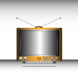Retro TV. Colorful retro tv with various buttons and huge screen Royalty Free Stock Photos