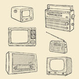 Retro TV And Radio Royalty Free Stock Images