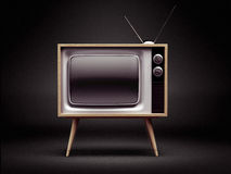 Retro TV with Clipping Path Stock Photos