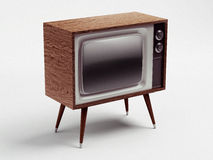Retro TV with Clipping Path Royalty Free Stock Photography