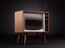 Retro TV with Clipping Path Stock Photography