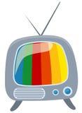 Retro tv with colour screen Stock Photography