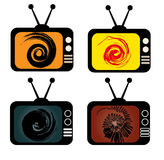 Retro tv. Royalty Free Stock Photos