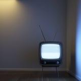Retro TV da solo nell'angolo Fotografie Stock