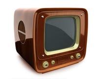Retro TV di legno Fotografia Stock Libera da Diritti